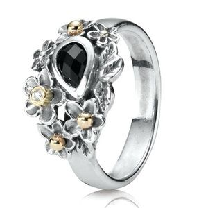 Pandora Dew Drops on Flowers Ring